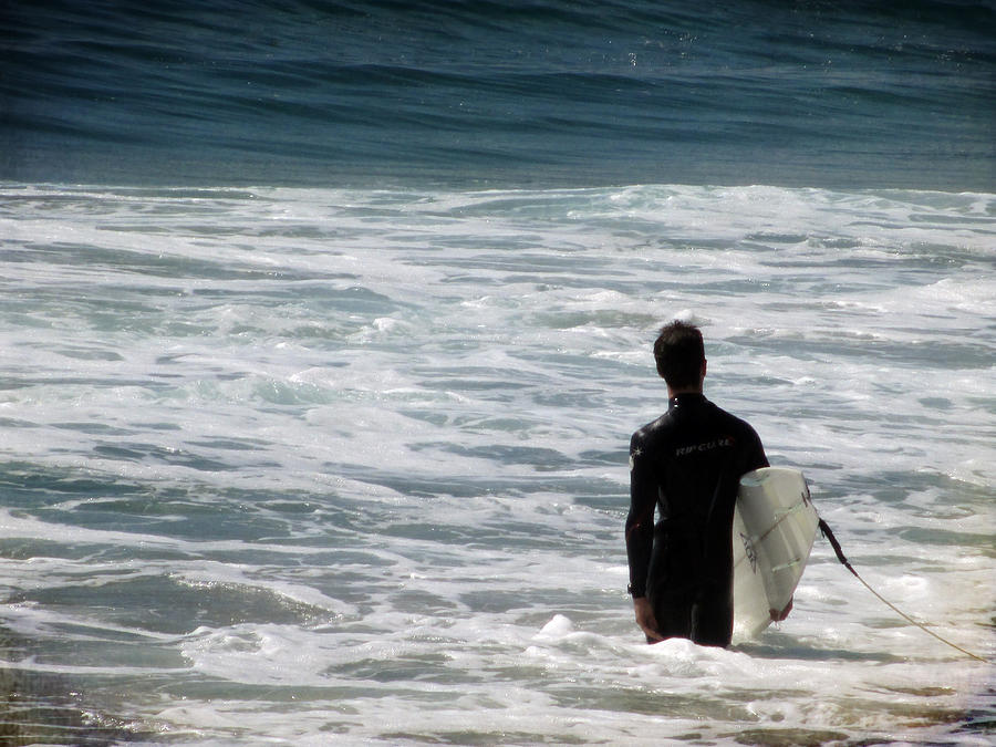Carlsbad Photograph - Looking For The Big One by Laurie Search