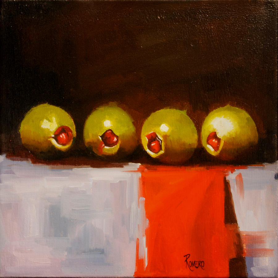 Frutas Painting - Looking For The Martini by Jose Romero