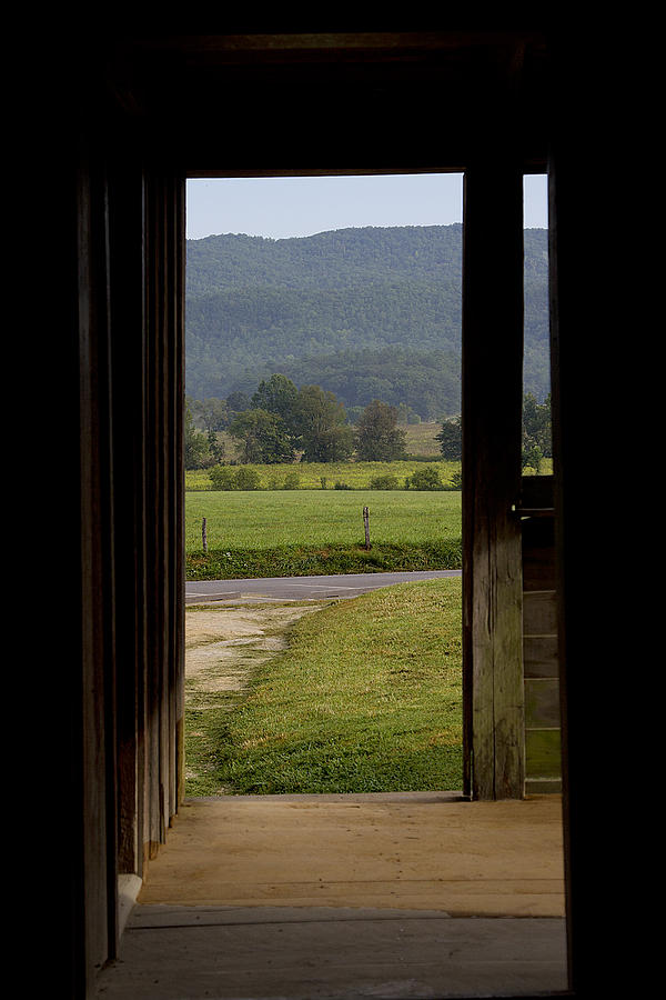 Looking Out The Front Door Cades Cove Photograph by Mike Aldridge