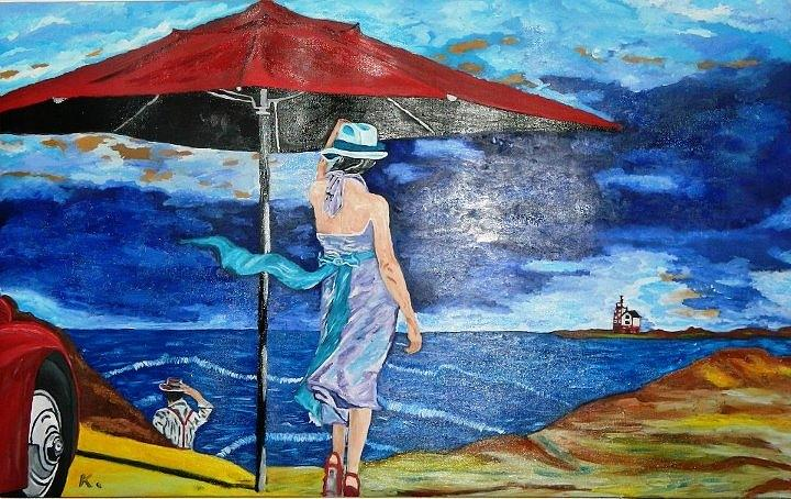 Painting - Looking To The Storm by Bichel  Carol