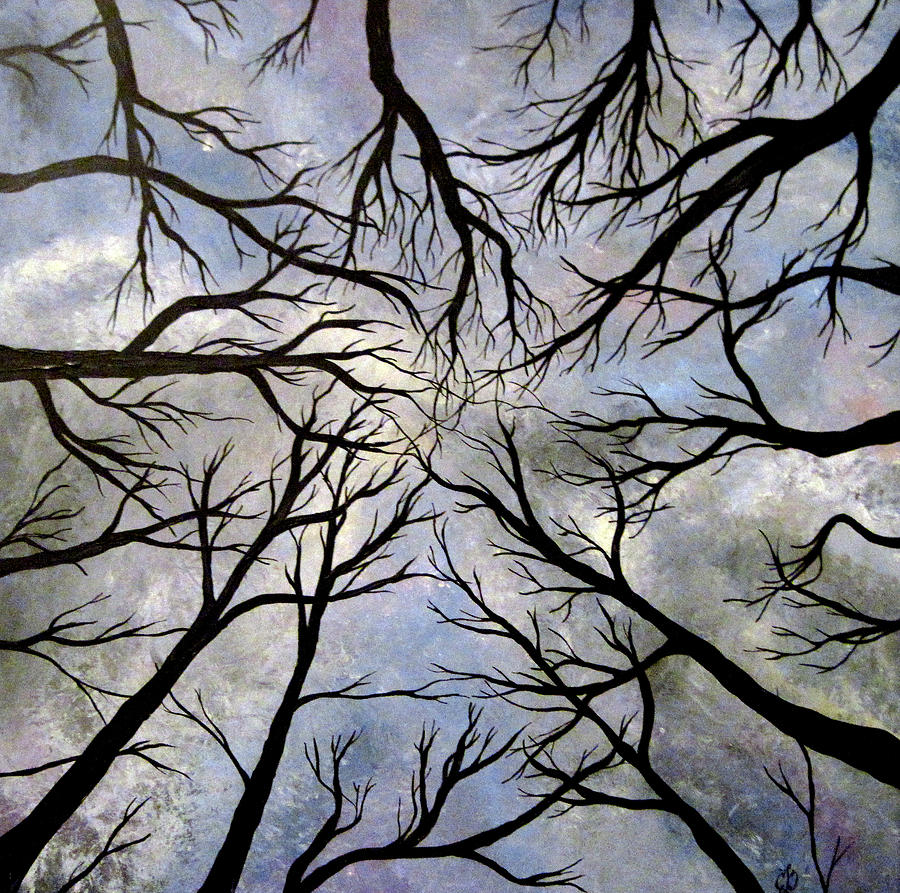 Trees Painting - Looking Up by Claudia Croneberger