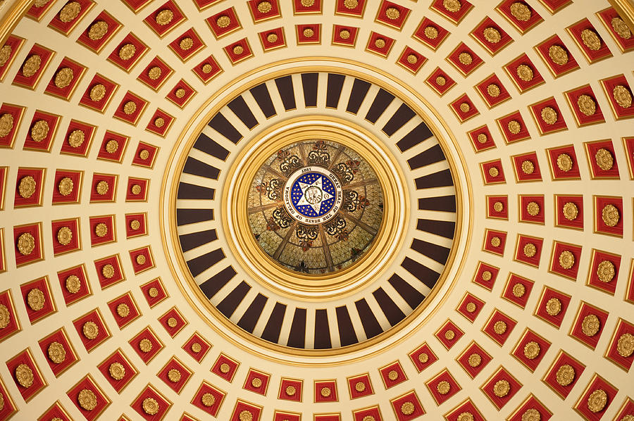 Administration Photograph - Looking Up by Ricky Barnard