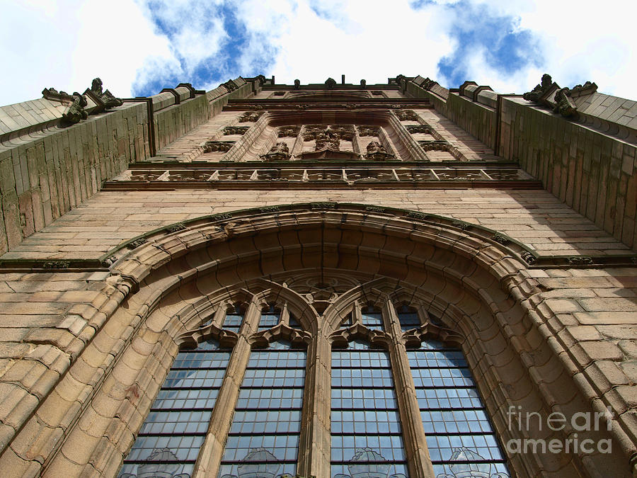 Cathedral Photograph - Looking up to God by Steev Stamford