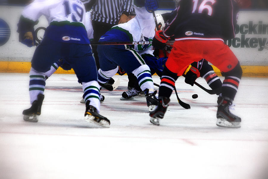 Hockey Photograph - Loose Puck by Karol Livote