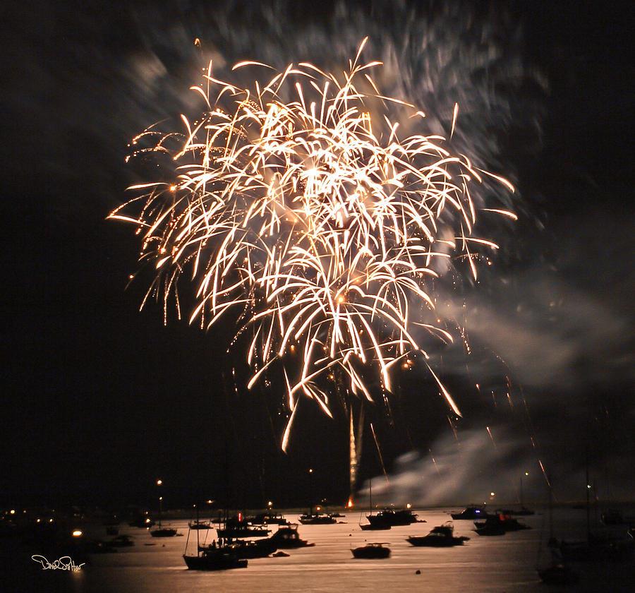 Fireworks Photograph - Lopez Island Fireworks 2 by David Salter