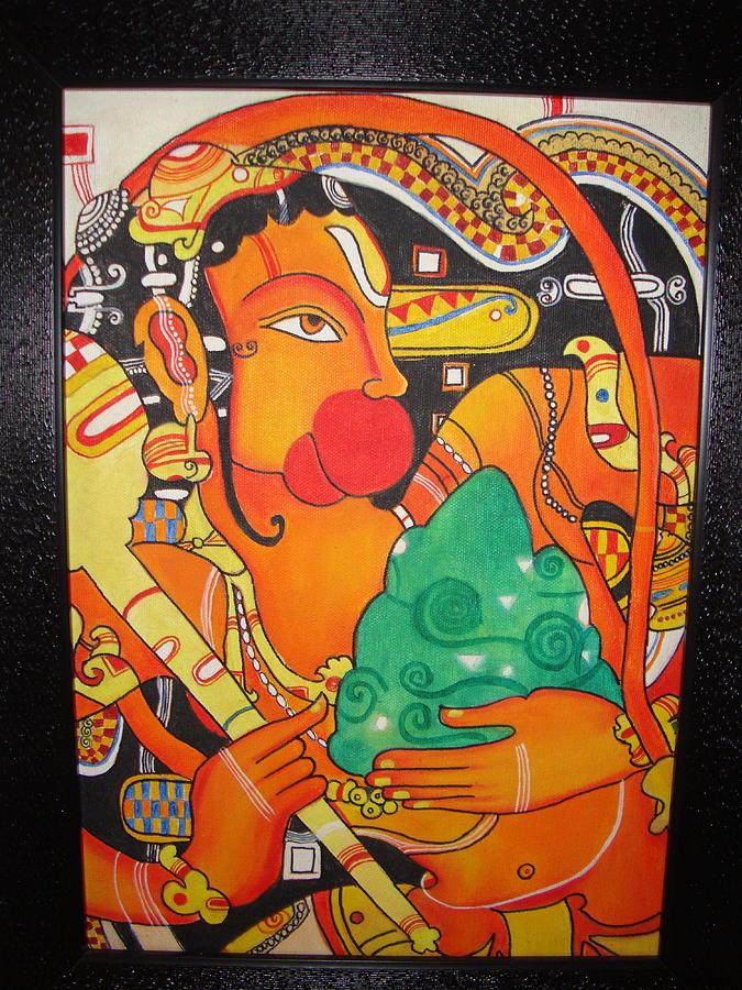 God And Goddess Painting - Lord Hanuman by Pooja Hirawat Bansal