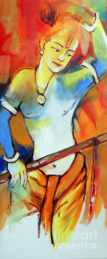 Lord Krishna Painting - Lord Krishna by Manish Verma