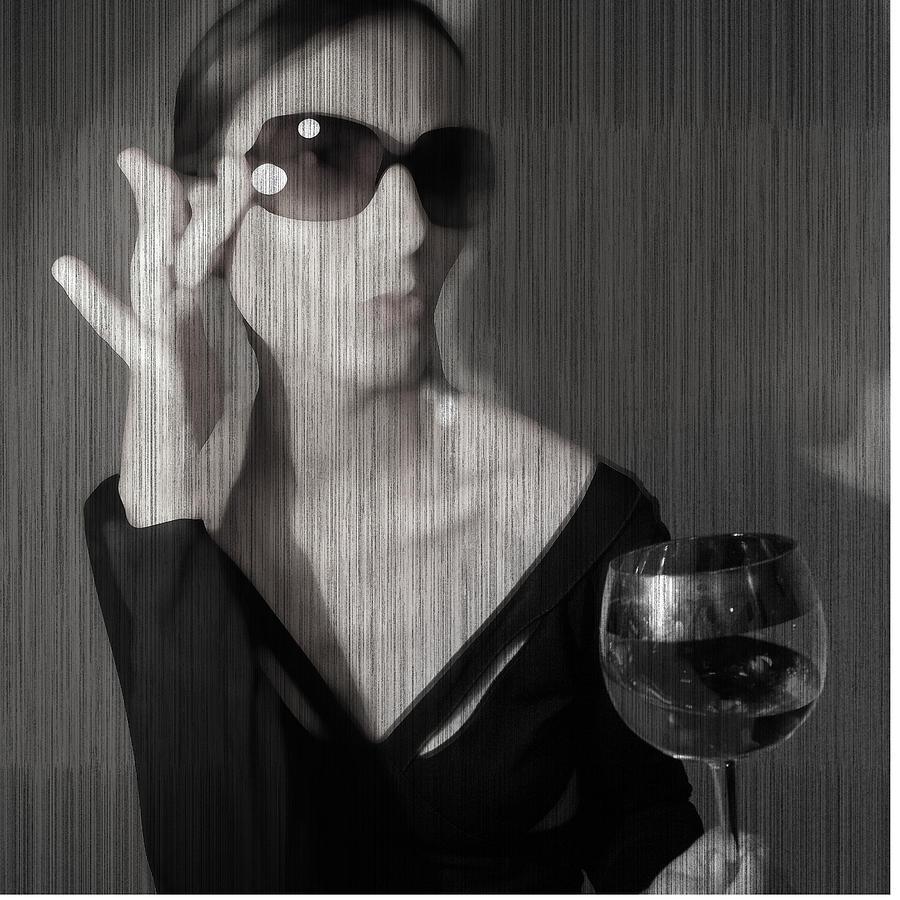 Woman Photograph - Loren With Wine by Naxart Studio