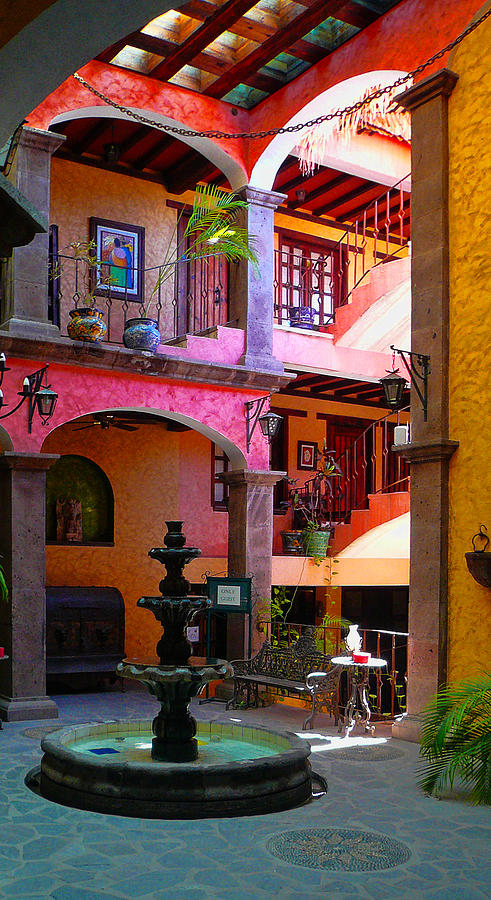 Baja California Photograph - Loreto Hotel Lobby by Scott Massey