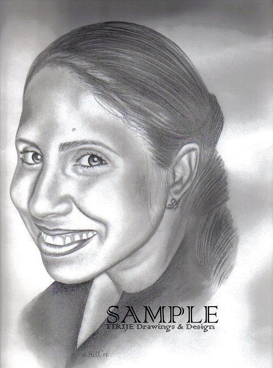 Portraits Drawing - Lorna Villanueva by Rick Hill