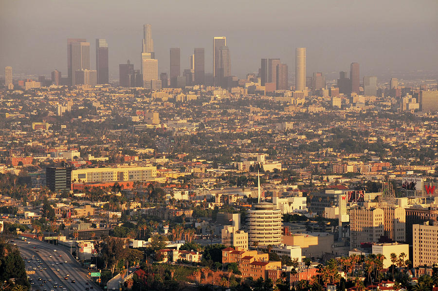 Horizontal Photograph - Los Angeles Skyline by Photo by Seattle Dredge