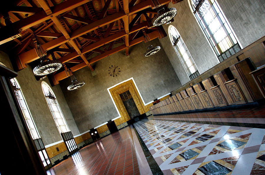 Trains Photograph - Los Angeles Union Station Terminal by Jeff Lowe