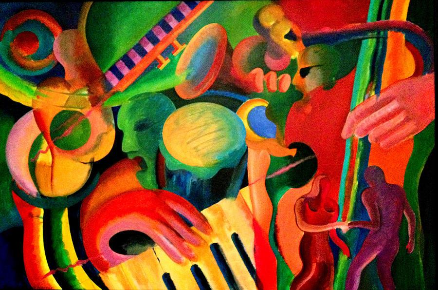 Abstract Painting - Los Hieros - The Irons by John Crespo Estrella