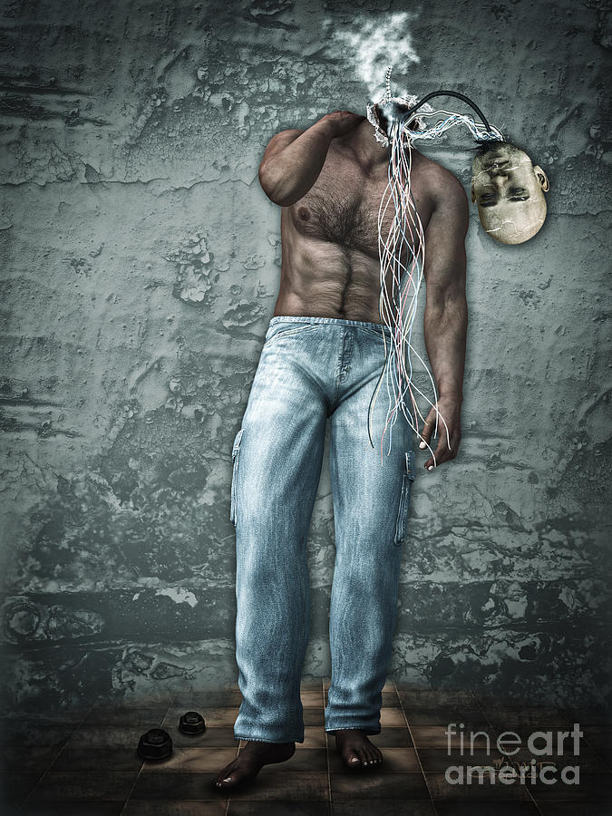 3d Digital Art - Lost His Mind by Jutta Maria Pusl