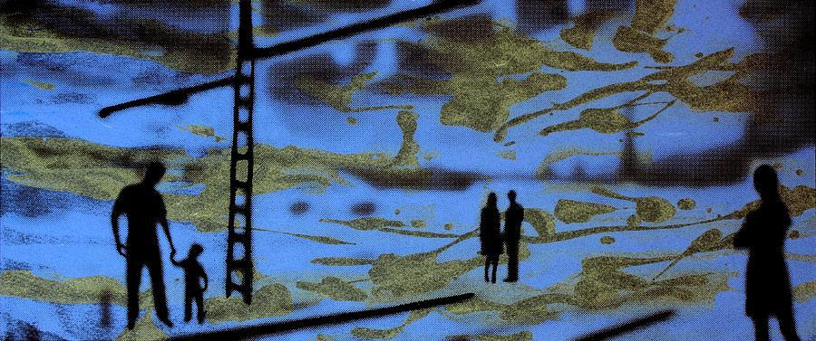 Silhouette Photograph - Lost In Translation - Serigrafia Arte Urbano by Arte Venezia