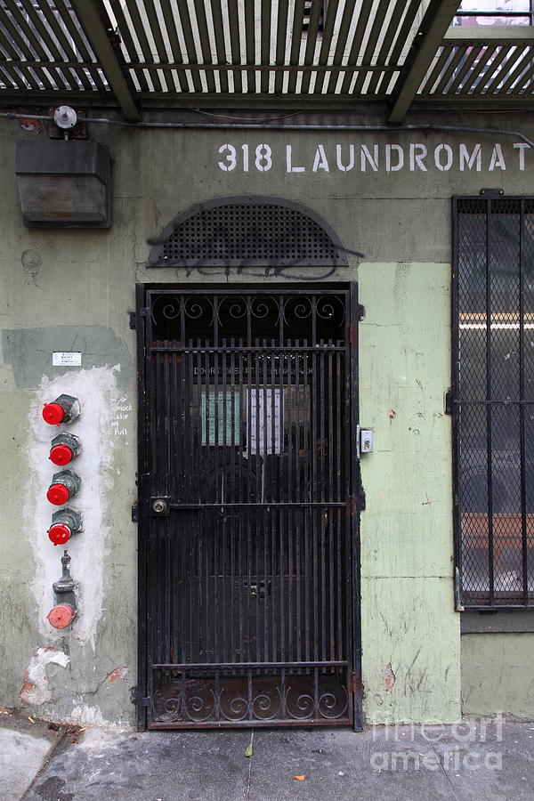San Francisco Photograph - Lost In Urban America - Laundromat - Tenderloin District - San Francisco California - 5d19347 by Wingsdomain Art and Photography