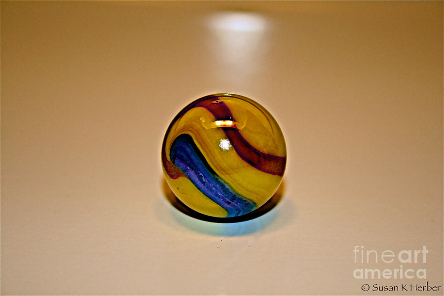 Vibrant Color Photograph - Lost Your Marble by Susan Herber