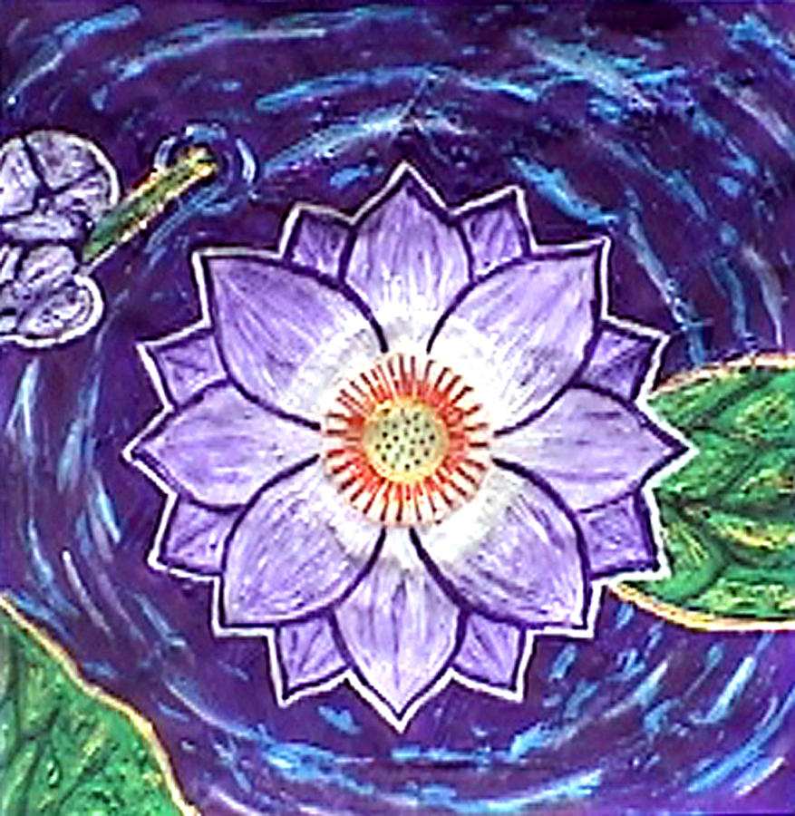 Lotus flower painting by far i shields paintings painting lotus flower by far i shields izmirmasajfo