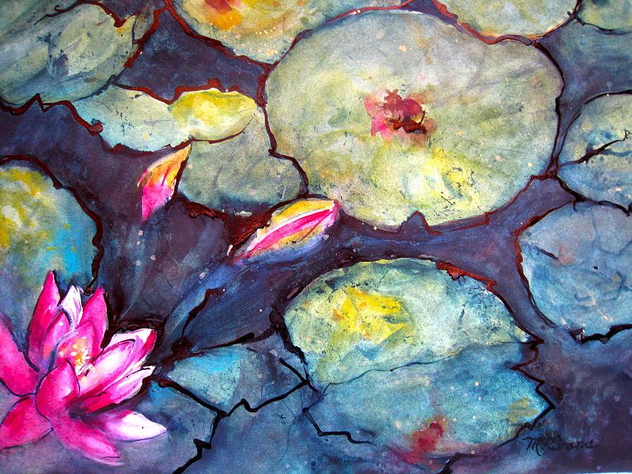 Lotus flower painting by myra evans lotus painting lotus flower by myra evans mightylinksfo