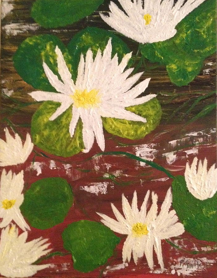 Flowers Mixed Media - Lotus Flowers by Pretchill Smith