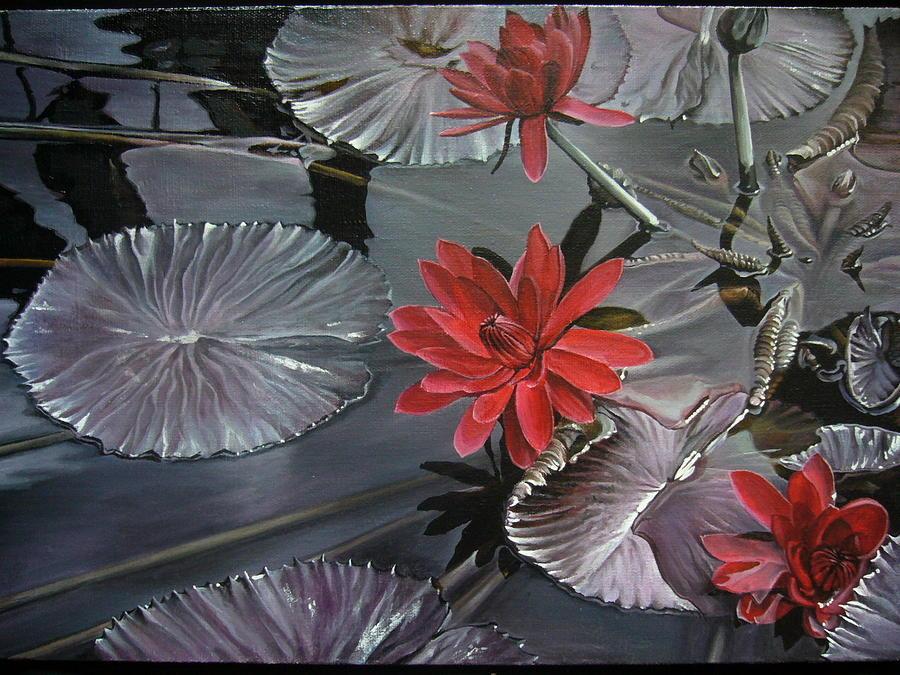 Landscape Painting - Lotus by Oleg Dashevsky