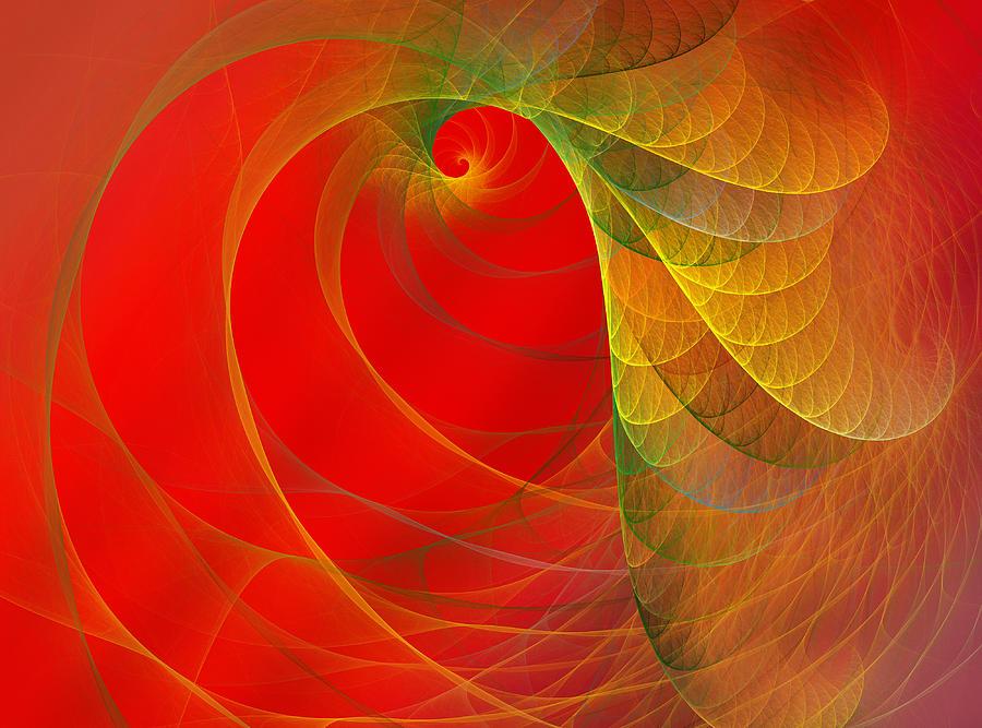Fractal Digital Art - Loud by Betsy Knapp