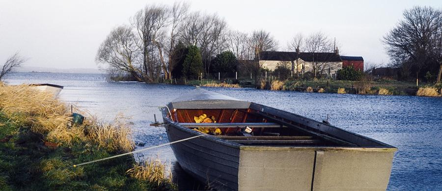 Dusk Photograph - Lough Neagh, Co Antrim, Ireland Boat In by Sici