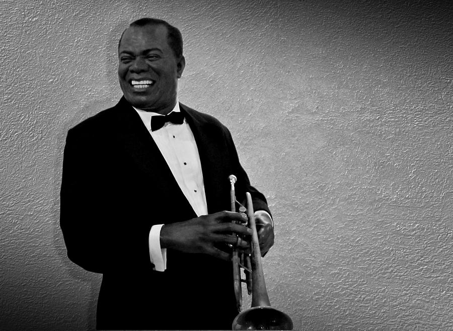 Louis Armstrong Bw Photograph