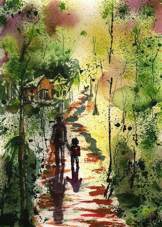 Body Of Water Painting - Louisiana Bayou by Sharon Mick