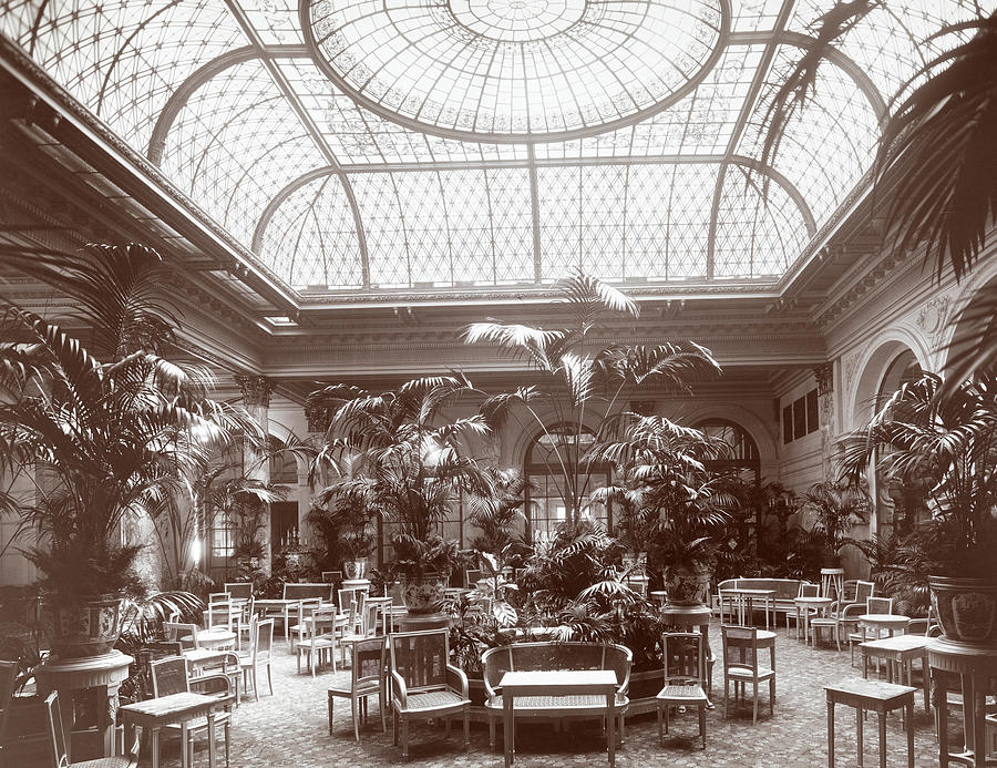White Photograph - Lounge At The Plaza Hotel by Henry Janeway Hardenbergh