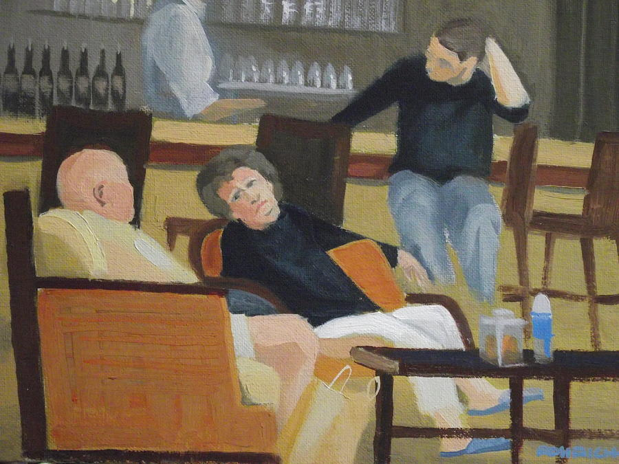 Conversation Painting - Lounge  Chat by Robert Rohrich