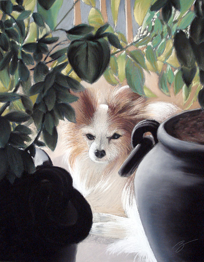 Dog Pastel - Lounging In The Sun by Ben Kotyuk