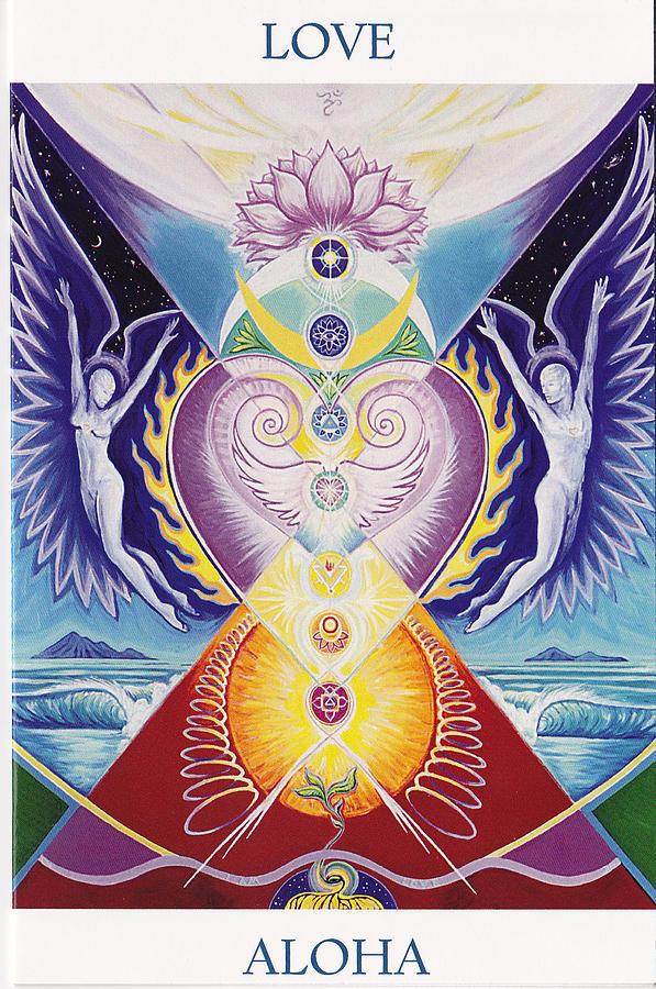 Chakra Painting - Love  Aloha by Tulsi Devi Art