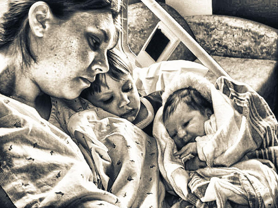 Mother Photograph - Love At First Sight by Kelly Reber