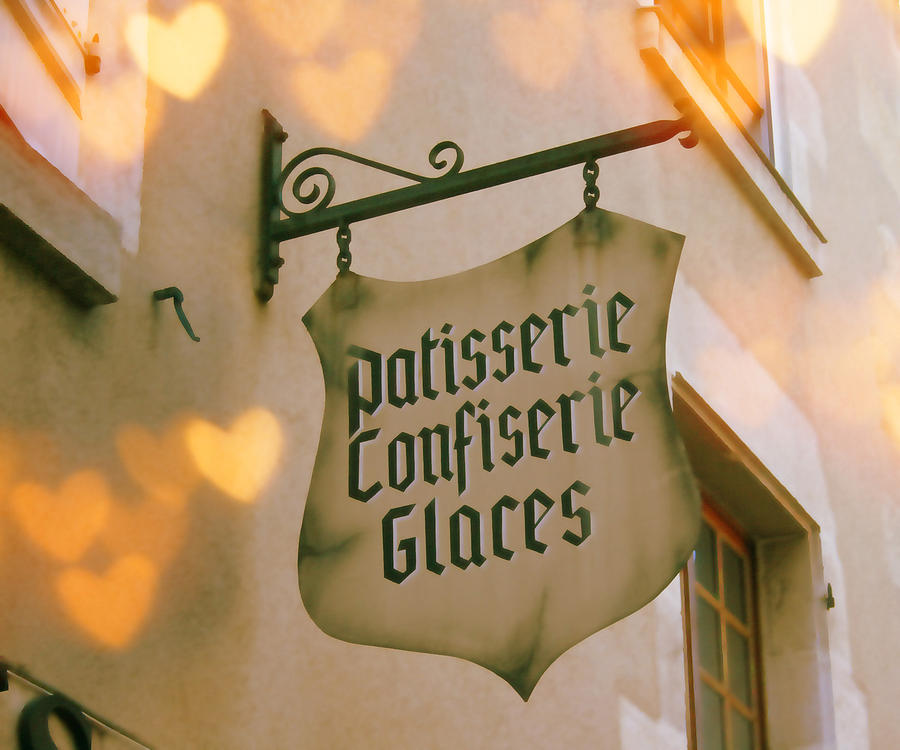 Store Photograph - Love At The Patisserie by Georgia Fowler