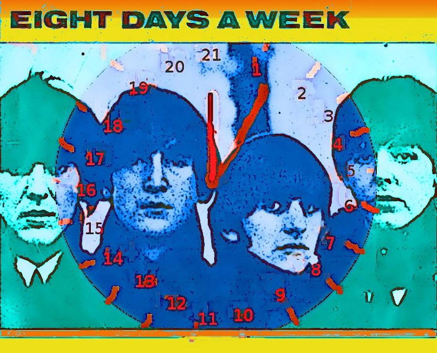 Love Digital Art - Love Clock by Rod Saavedra-Ferrere