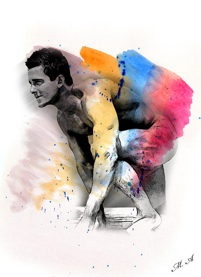 Artistic Nude Digital Art - Love Colors - 2 by Mark Ashkenazi