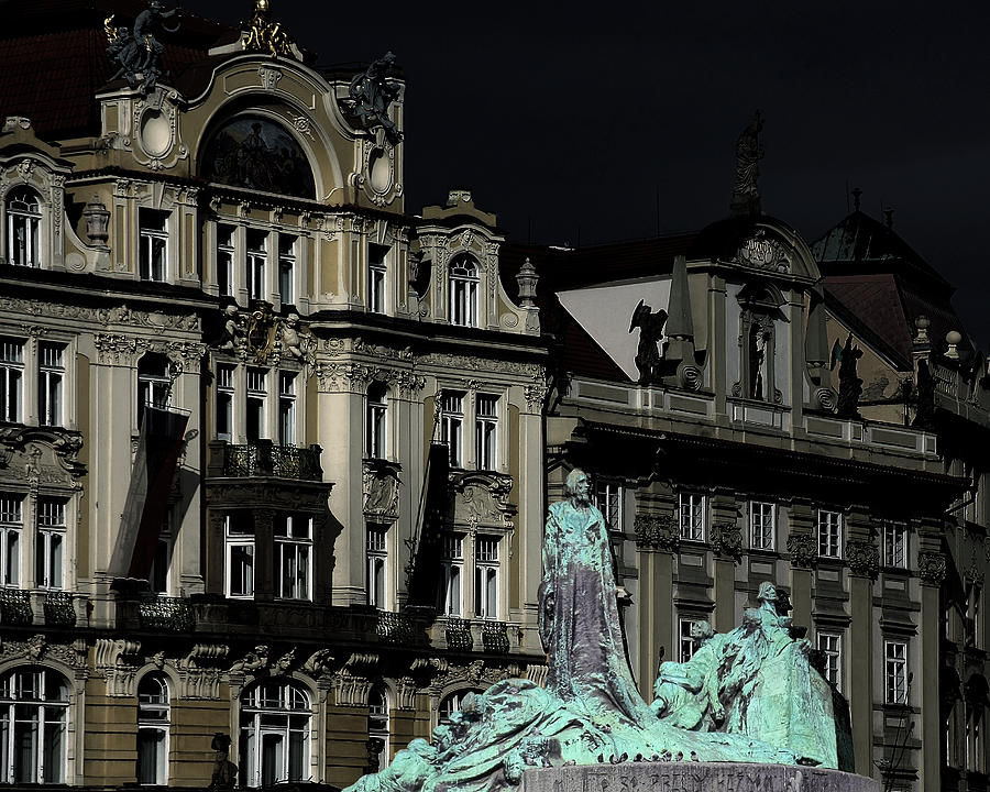 Art Nouveau Photograph - Love Each Other And Wish The Truth To Everyone - Jan Hus Prague by Christine Till