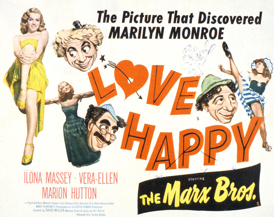 1940s Movies Photograph - Love Happy, Marilyn Monroe, Marion by Everett