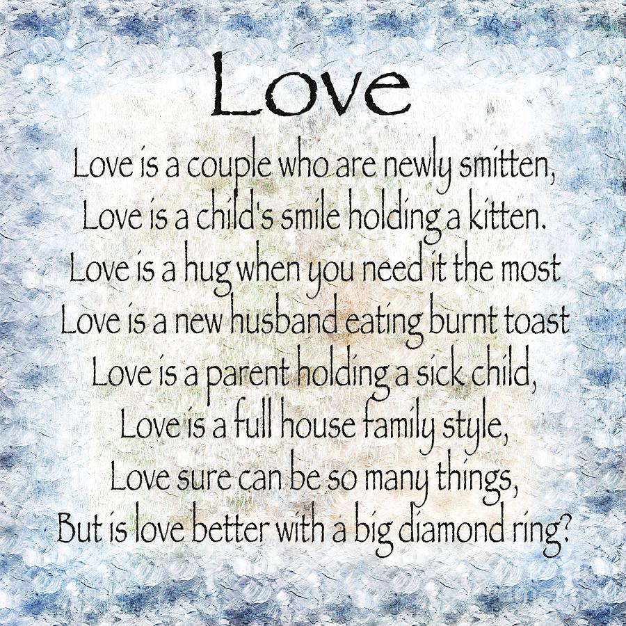 Love Poem In Blue Digital Art by Andee Design