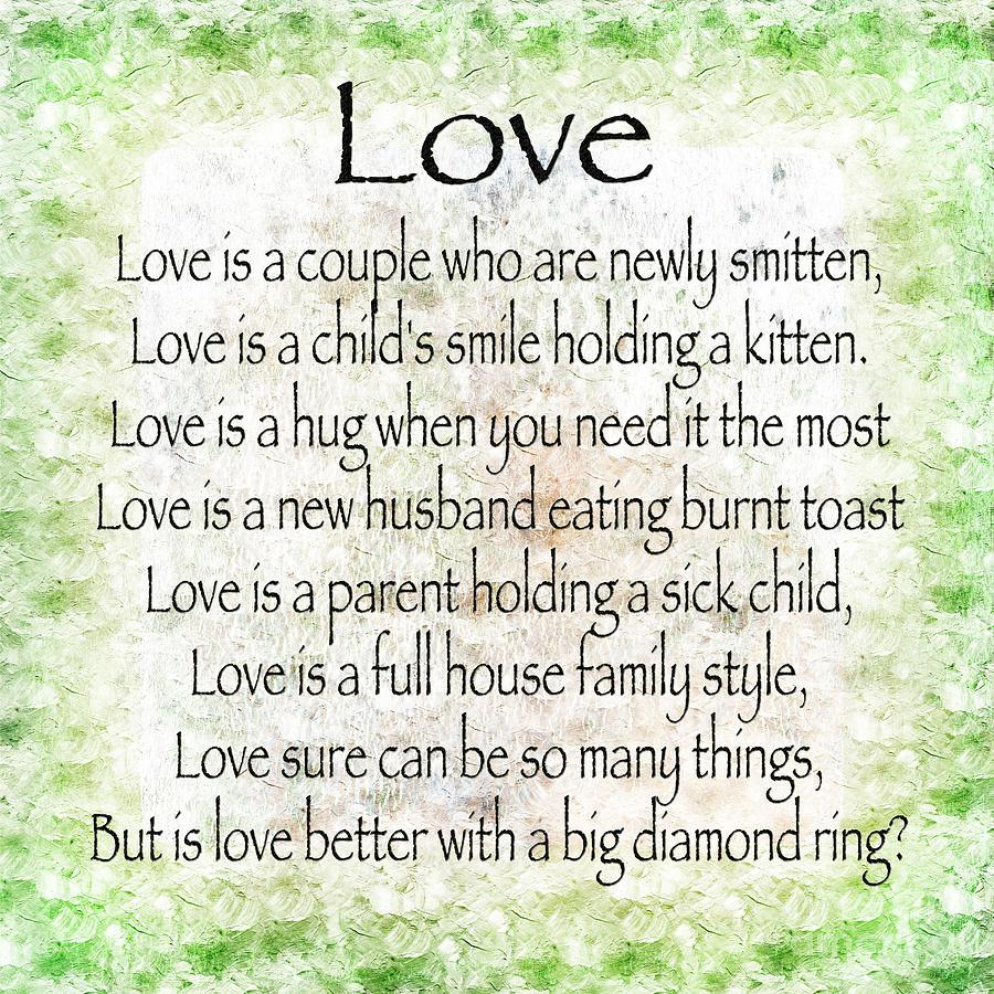 Love Poem In Green Digital Art by Andee Design