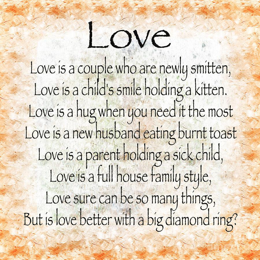 Love Poem In Orange Digital Art by Andee Design