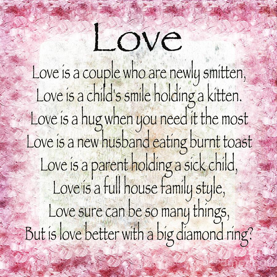 Love Poem In Pink Digital Art by Andee Design