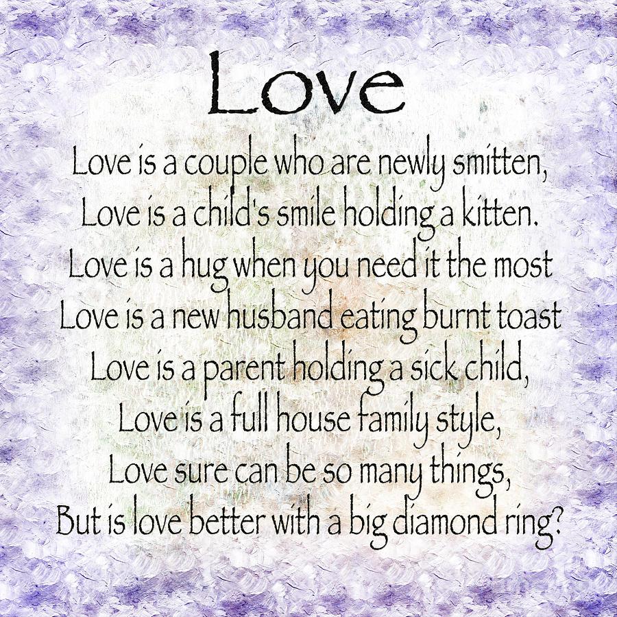 Love Poem In Purple  Digital Art by Andee Design