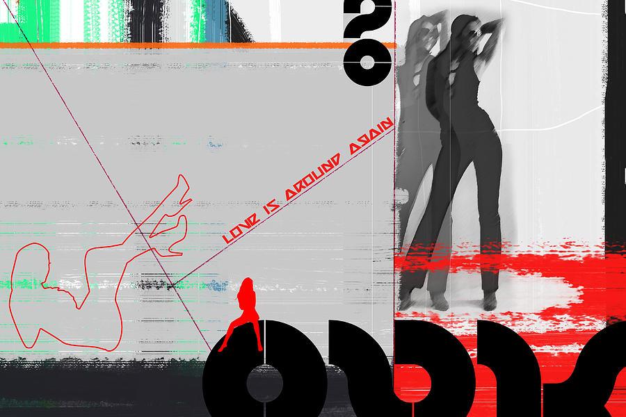 Digital Art - Love Is Around Again by Naxart Studio