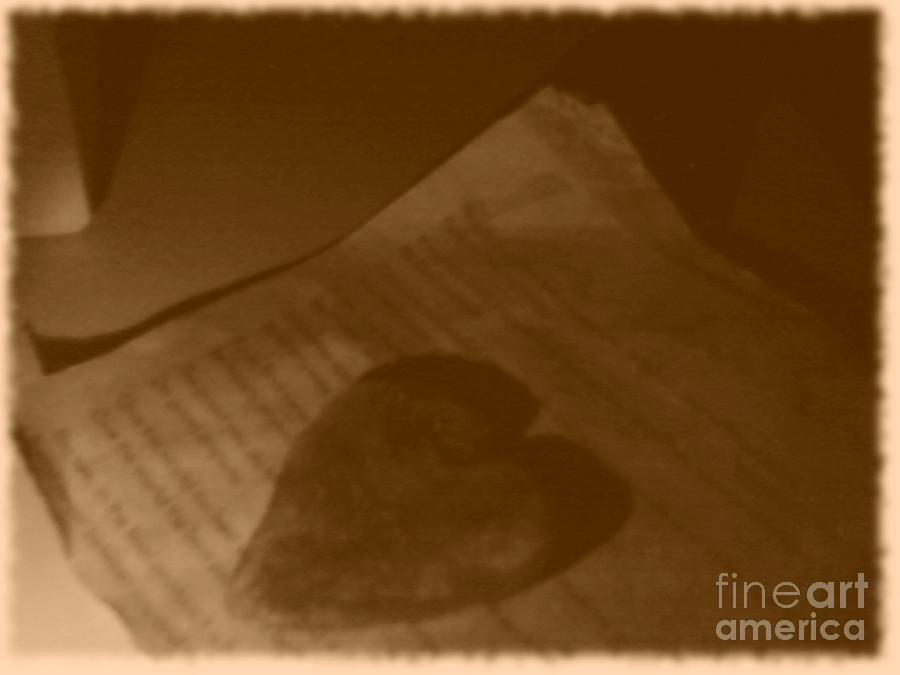 Heart Photograph - Love Letter by Vicki Lynn Sodora