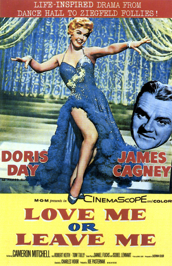Cagney Photograph - Love Me Or Leave Me, From Left Doris by Everett