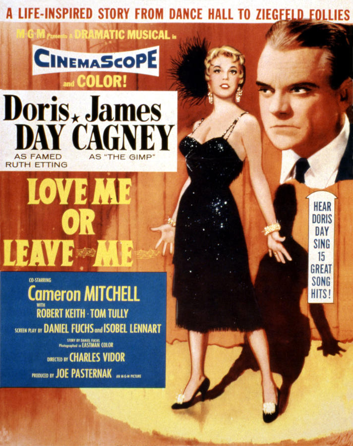1950s Movies Photograph - Love Me Or Leave Me, Poster Art, Doris by Everett