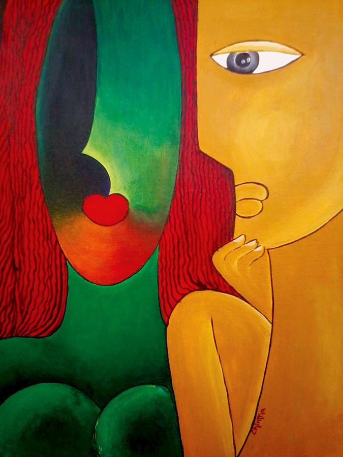 Love Painting - Love by Nagabhushanam Chintha