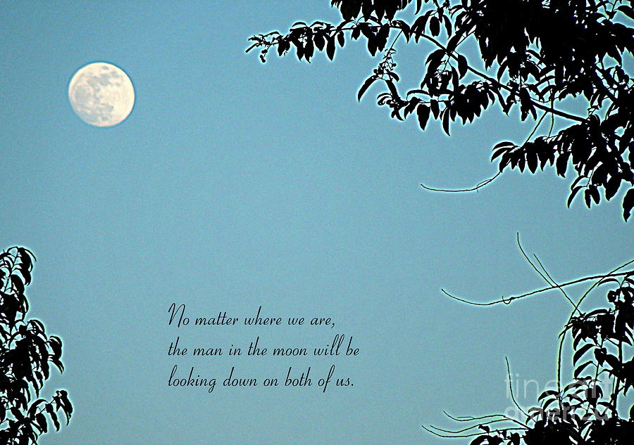 Man Photograph - Love Notes Man In The Moon by Renee Trenholm